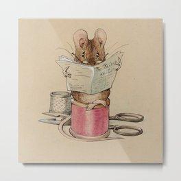 Beatrix Potter Tailor Mouse Metal Print