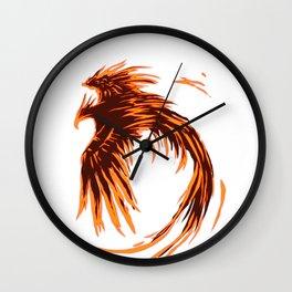 Phoenix  Mythical  Secular Vibrant Long Live Gift  Wall Clock