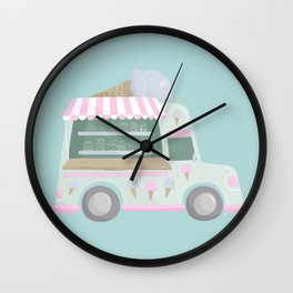 Ice Cream Truck Wall Clock