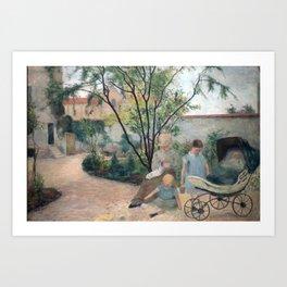 Paul Gauguin - Figures in a Garden Art Print
