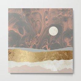 Coral Sky Metal Print