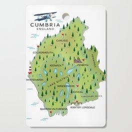 Cumbria England Map Cutting Board