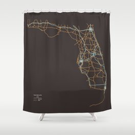 Florida Highways Shower Curtain