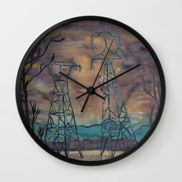 Power Structures Wall Clock