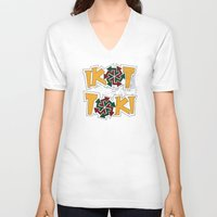 philippines V-neck T-shirts featuring IkoToki: University of the Philippines, Diliman by Franchie