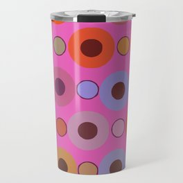Abstract circle color print Travel Mug