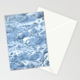 Snow Environment Stationery Cards