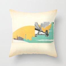 Brooklyn Summer Throw Pillow