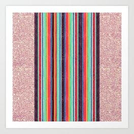 Stripes and pattern in primaries Art Print