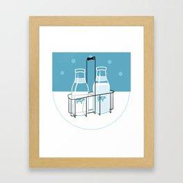 Milk Clock Framed Art Print