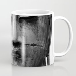 Buddha Statue, Buddha Photograph, Black and White Buddha Print Coffee Mug