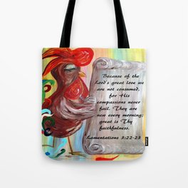His Compassions are New Every Morning Tote Bag