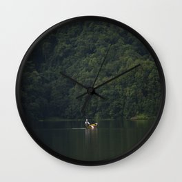 Rowing back home. Wall Clock
