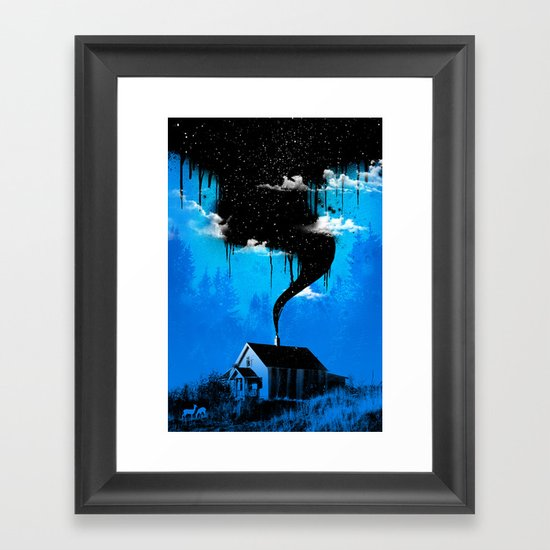 Black Smoke Framed Art Print