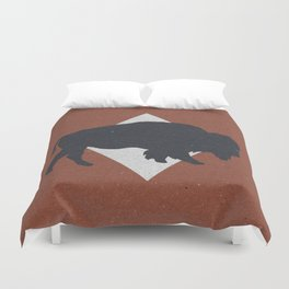 Bison & Blue Duvet Cover
