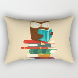 Owl Reading Rainbow Rectangular Pillow