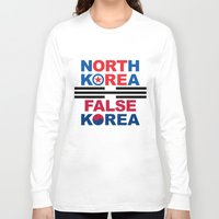 korea Long Sleeve T-shirts featuring North Korea by pollylitical