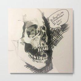 Inktober skull Metal Print