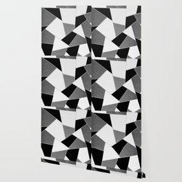 Gray Black White Geometric Glam #1 #geo #decor #art #society6 Wallpaper
