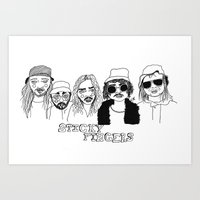 cactei Art Prints featuring Sticky Fingers  by ☿ cactei ☿