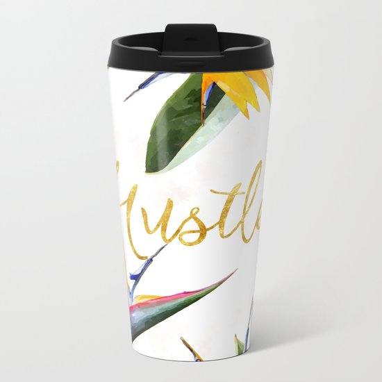 Hustle #society6 Metal Travel Mug