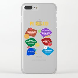 PE Physical Education Teacher Rules Clear iPhone Case