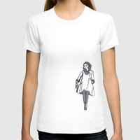 70s T-shirts featuring 70s fashion coat by Erica Evans Design
