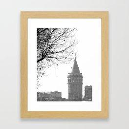 Galata Tower in Istanbul Framed Art Print