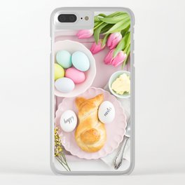 Easter breakfast table Clear iPhone Case