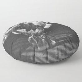 peonies [bw] 03 Floor Pillow