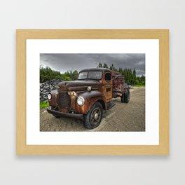 Gravel Pit Road Framed Art Print