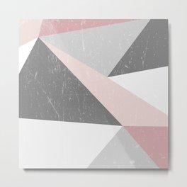 Grunge Geometric Retro Pattern Metal Print