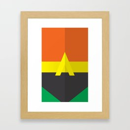 """Belts of Justice: Mascot Series """"The Fish"""" Framed Art Print"""