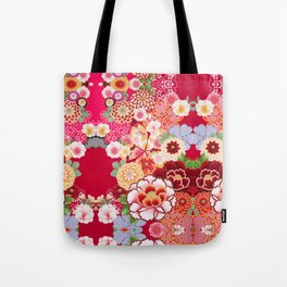 Red Floral Burst Tote Bag