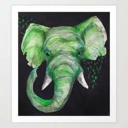 Old Elephant Art Print