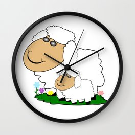 Sheep With Lamb Wall Clock