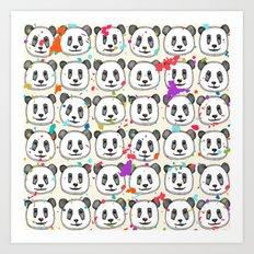 splatter pop panda cookies Art Print