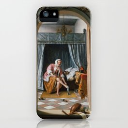 "Jan Steen ""Woman at her Toilet"" iPhone Case"