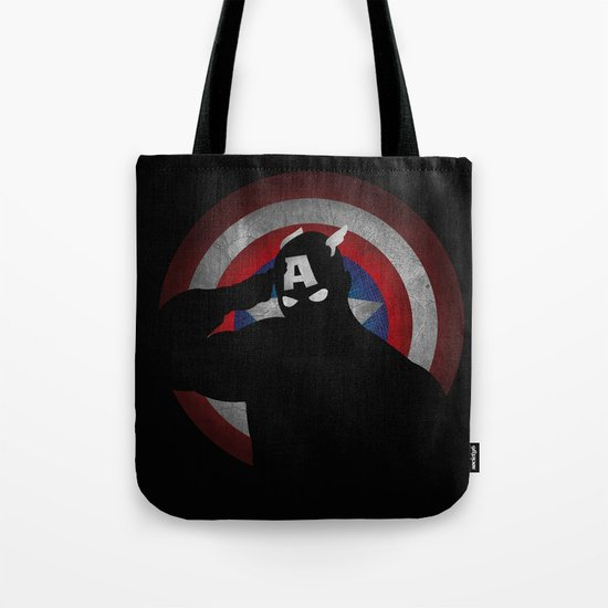 SuperHeroes Shadows : Captain America Tote Bag