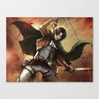 levi Canvas Prints featuring Levi Heichou by K.Koji
