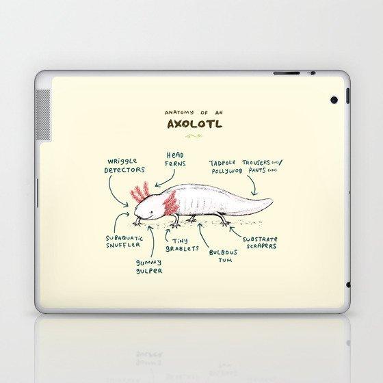Anatomy of an Axolotl Laptop & iPad Skin