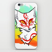okami iPhone & iPod Skins featuring Okami shiranui by captyns