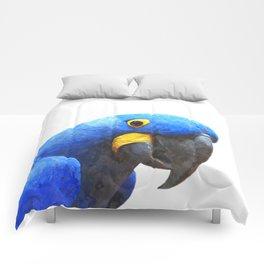 Blue Parrot Portrait Comforters