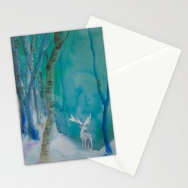 White Stag of the Winter Solstic Stationery Cards