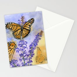 Flutter-By On Flower Fronds Stationery Cards