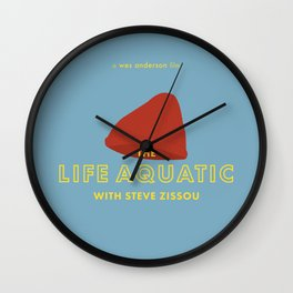 The Life Aquatic with Steve Zissou Beanie Poster Wall Clock