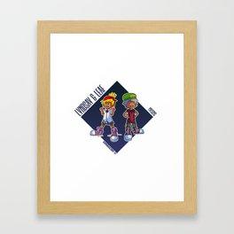 Mysims X Phi Brain Framed Art Print