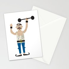 The Strongman from the circus Stationery Cards
