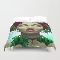 poison ivy Duvet Covers featuring Poison by Claudia SGI