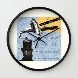 Top Hat Gramophone Wall Clock